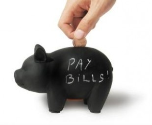 Capitalist Pig Money Bank: Write on blackboard surface. Comes with 4 pieces of chalk. 13 GBP