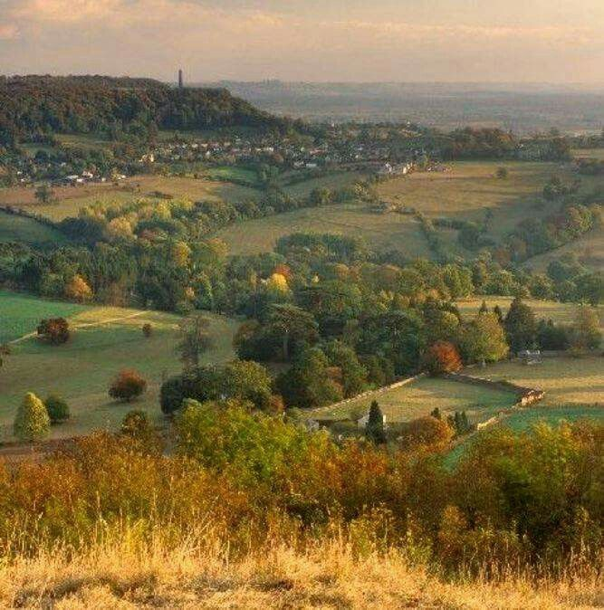 The Cotswold Way, a 102-mile long-distance walking trail that runs between Chipping Campden in the north and Bath in the south.