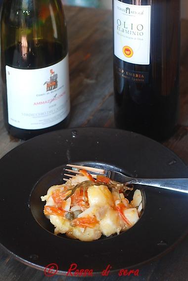 Rossa di sera: Gnocchetti di polenta con baccalà per il secondo Taste romano!