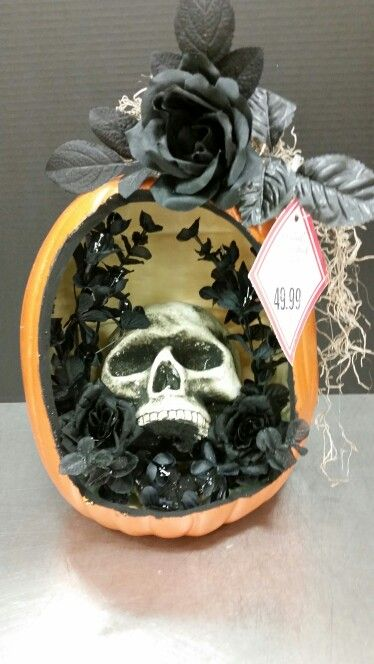 skull in the pumpkin michaels custom floral - Michaels Halloween Decorations