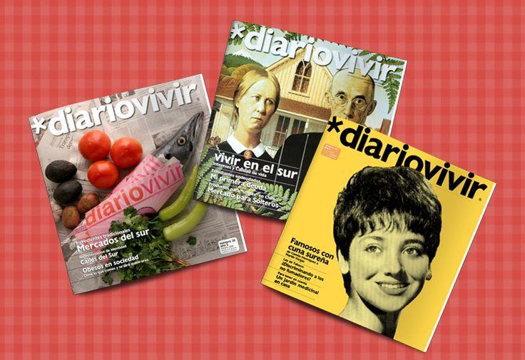 Diseño Editorial, revista DIARIO VIVIR para clientes SOCOVESA. Periodo 2007/2010 Nº 15 al 23.