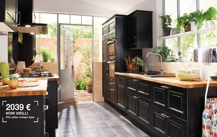 Maison Moderne Bois Architecte : Cuisine noir bois vieilli  Cuisine  Pinterest