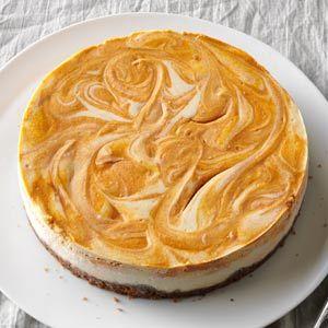 Gluten-Free Spiced Pumpkin-Swirl Cheesecake                                                              ...
