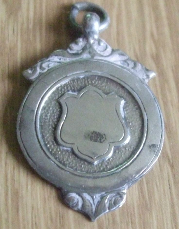 1933 SOLID STERLING SILVER FOOTBALL FOB MEDAL
