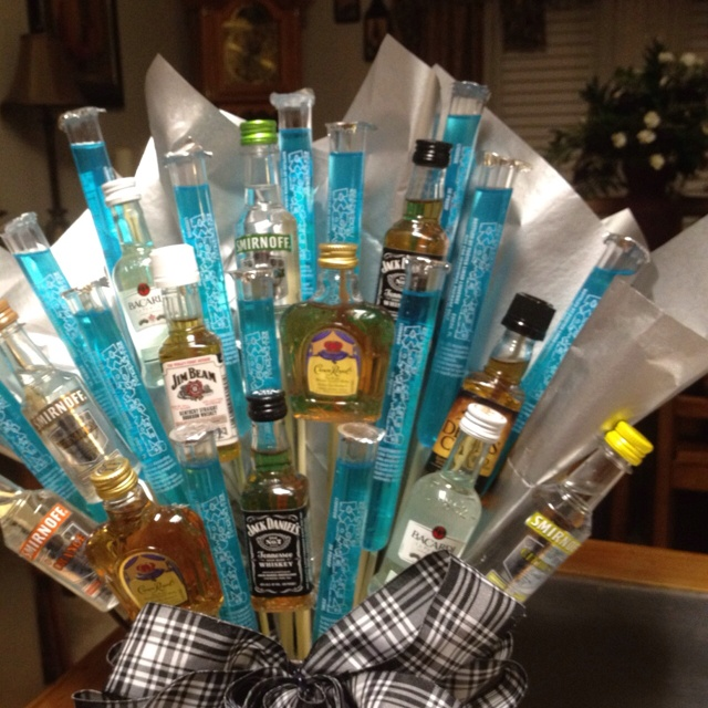 liquor bouquet gift baskets pinterest liquor bouquet