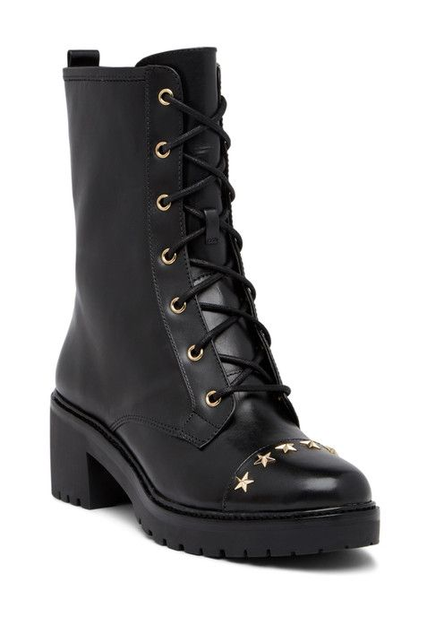 Cody Star Studded Combat Boot