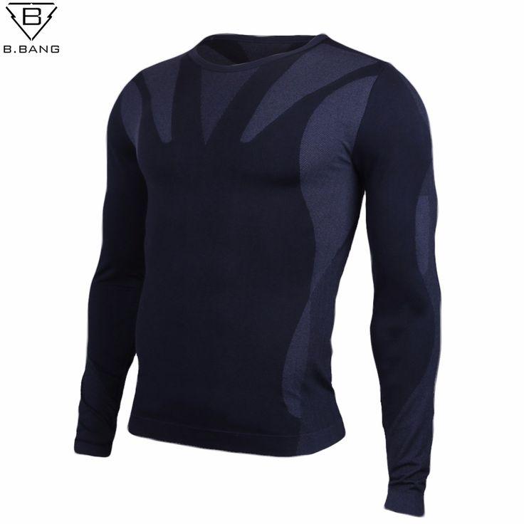 B. BANG Hommes de Jersey Extérieure Randonnée Camping Shirts à manches longues Col Rond T-shirt Outerdoor Mâle Collants chemise