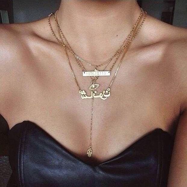 سلاسل ذهب ناعمه مكتوب عليها اسماء و حروف Soft Gold Chains With Names And Letters سلاسل ذهب ناعمه Soft Gold Arabic Necklace Jewelry Fine Jewelry