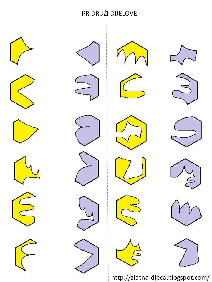 Welke stukken horen aan elkaar, free printable