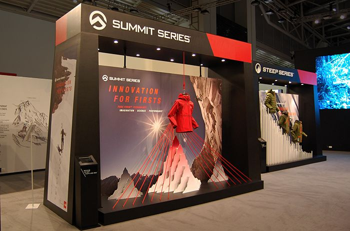 The North Face - Trade Show Summit Series window