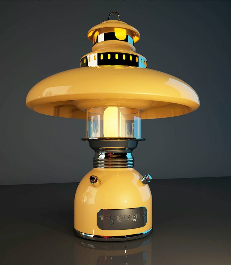 Diseño de escena en 3d del prototipo de una lampara para inicio de producción vista 3