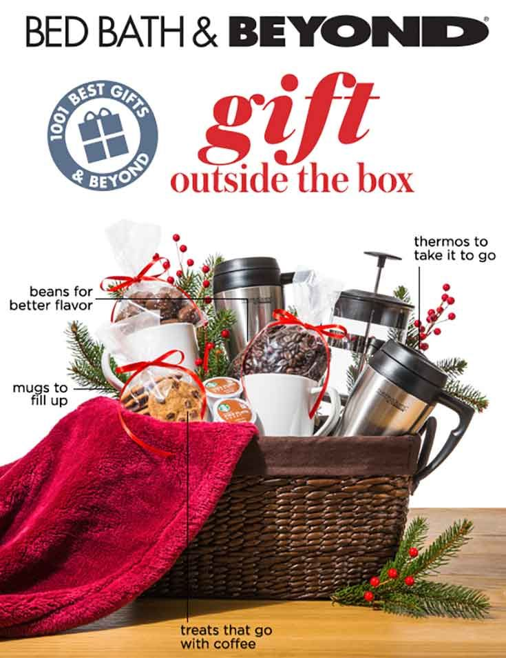 Build a thoughtful gift for anyone on your list with a basket filled with no-fail favorites like blankets, cookies, mugs and more!