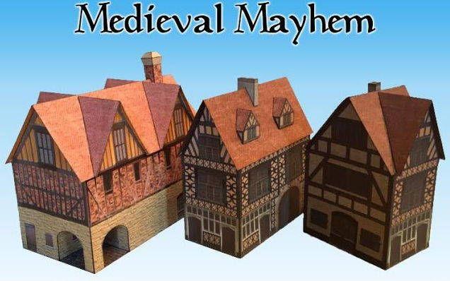 Medieval Mayhem Building Paper Models Free Templates Download - http://www.papercraftsquare.com/medieval-mayhem-building-paper-models-free-templates-download.html#BuildingPaperModel, #Diorama