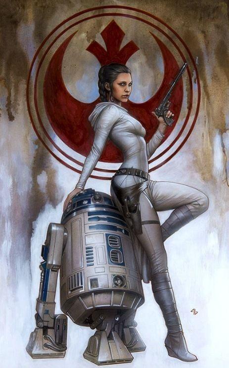 Carrie Fisher / Princess Leia Tribute. La más grande princesa de todos los tiempos, y de todas las galaxias...