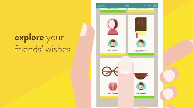 The video was made for Wishtagger, an app to find the perfect gift for your friends. http://wishtagger.com/  With Zetalab.