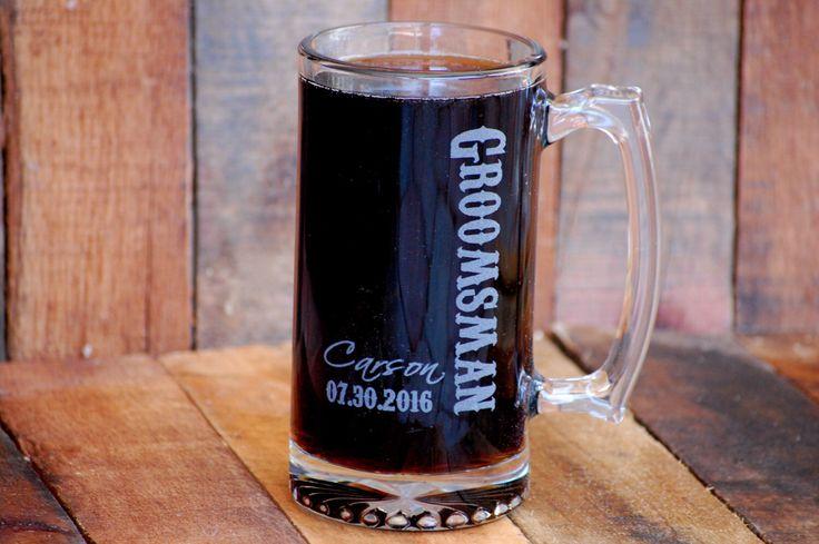 Gifts for Men, Groomsman Gift, Personalized Beer Mug, Best Man Gift, Mens Wedding Gift, Monogram Beer Mug, Custom Beer Stein, Groomsmen Gift by UrbanFarmhouseTampa on Etsy https://www.etsy.com/listing/216501428/gifts-for-men-groomsman-gift