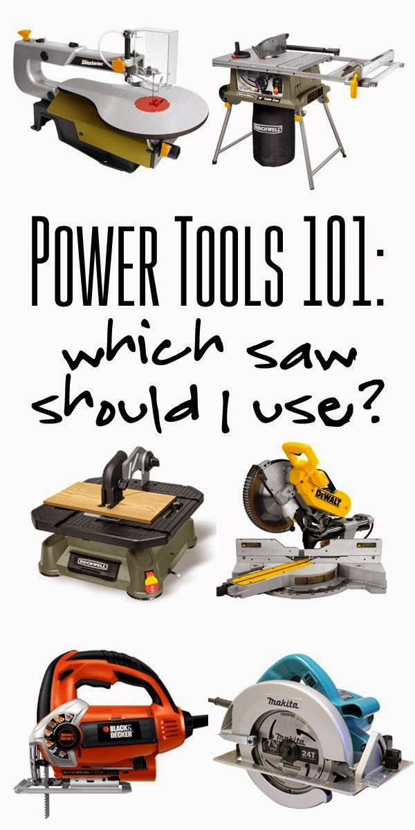 Power Tools 101: Which saw should I use