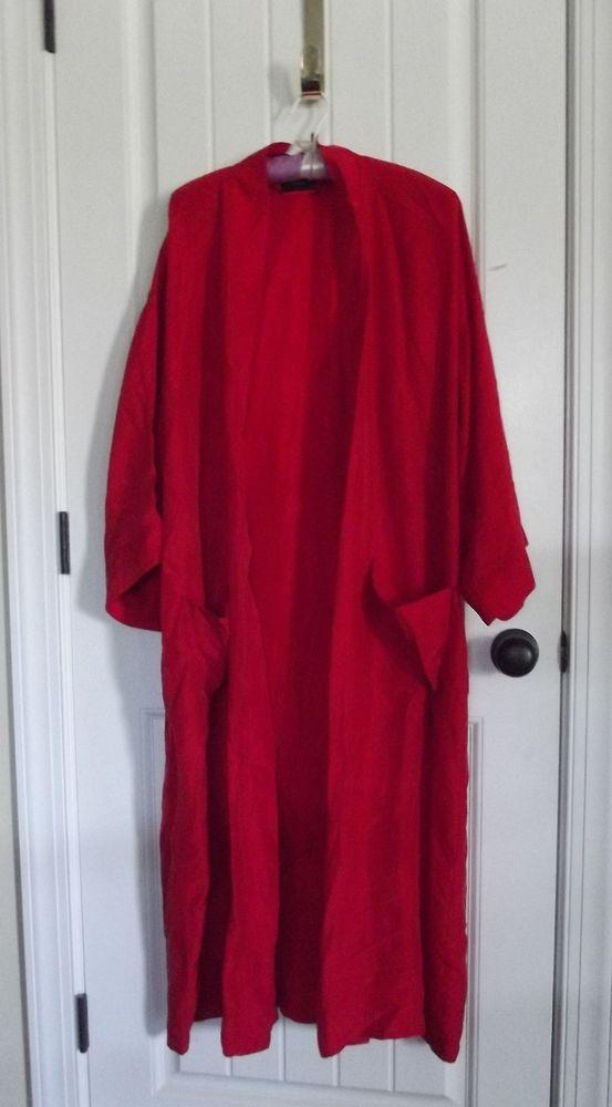 2a9321977f Vintage Christian Dior RED SILK Mens monsieur Ladies kimono robe top WOW!!!   Dior  Vintage  Casual