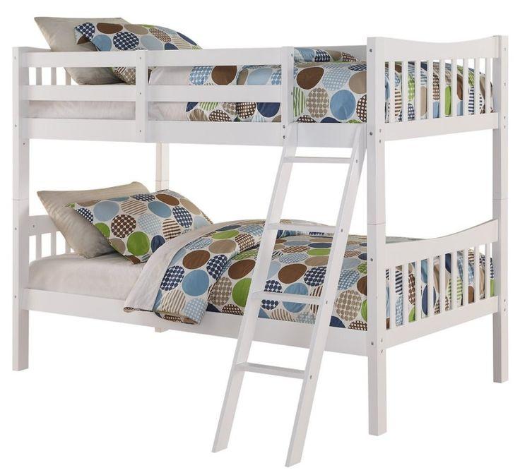 cheap white bunk beds