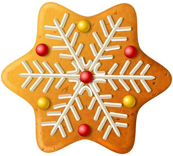 CHRISTMAS GINGERBREAD SNOWFLAKE *