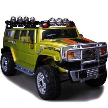 New 2015 Big Extended Edition Hummer H3 Style Kids Ride on Power Wheels Battery Remote Control Toy Car - Green