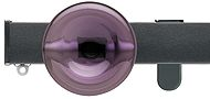 Silent Gliss Metroflat 36mm, 6100 Curtain Track, Gun Metal, Discus Midial Purple