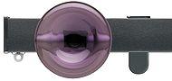 Silent Gliss Metroflat 36mm, 6100 Curtain Track, Gun Metal, Discus Midial Purple