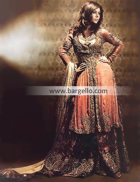Pakistani Bridals with Heavy Lehnga Montgomery AL, Pakistani Bridals with Heavy Sharara Auburn AL D4109 Bridal Wear