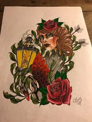 #forlifecolor #artwork #artistchris #artist #chris #tattooraubling #tattooist #inkmaster #color #draw #drawing #sketch #tattoo #tattoos #rosen #neotraditional #laterne #neotrad #instagood #instagram #tattoolovers #tattoolife #colorink #fürcoverup