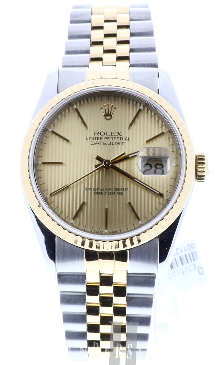 Rolex DateJust 16233, 18ct Yellow Gold & Stainless Steel, Champagne Dial, available to buy on finance or for part exchange at Humberstones, Lancashire