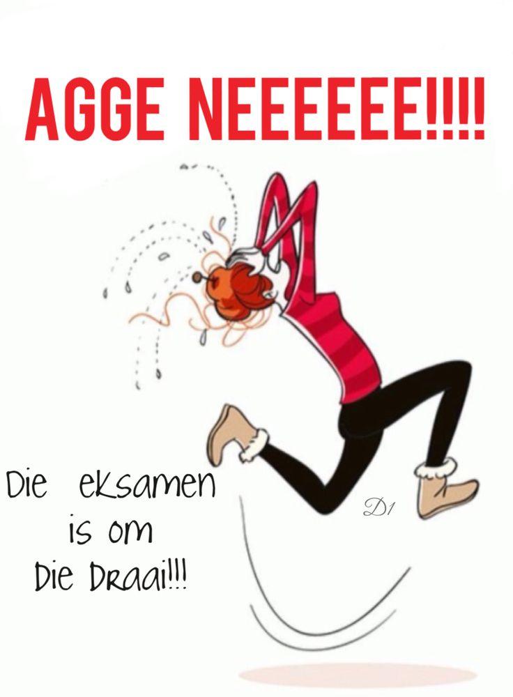 Agge   neeeeee!!!! Die  eksamen is om die draai!!!