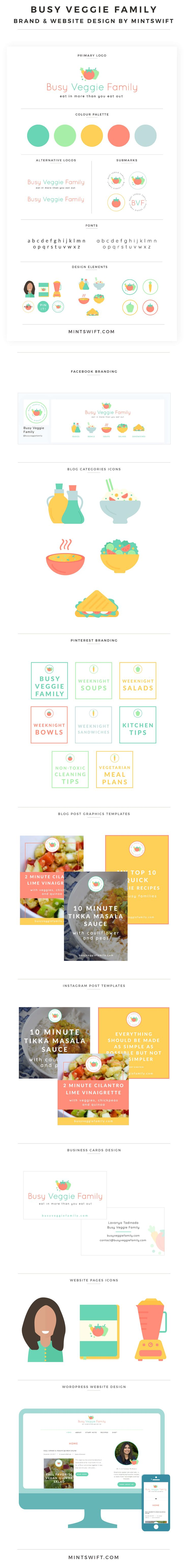 Brand & Website Design for Busy Veggie Family | Brand & Website Design Package | WordPress Website Design | Brand Design | Brand Identity | Brand Collaterals Design | Website Design | Pinterest Branding | Logo Design | Facebook Branding | Social Media Branding | Brand Board | Brand Style Guide | Blog Categories Icons | Blog post graphics templates | Instagram Post Templates | Illustration design | Business cards design | MintSwift | MintSwift Portfolio | MintSwift Design | Adrianna Glowacka