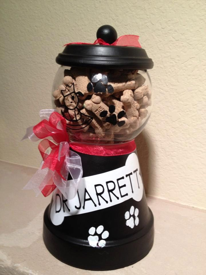 Personalized Dog or Cat Pet Treat Jars. $25.00, via Etsy.
