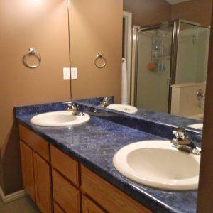 Blue Bathroom Vanity Tops