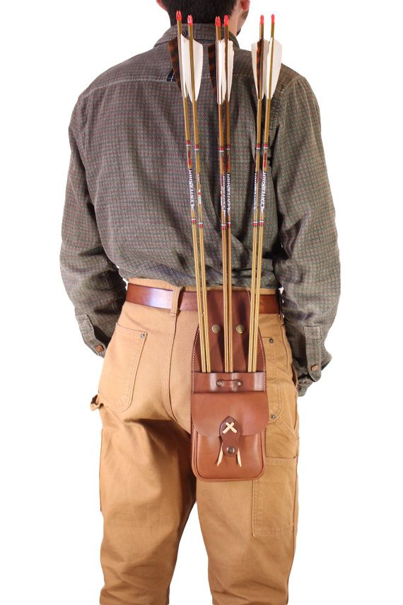 leather side quiver archery Quiver archery by OakCreationCuir