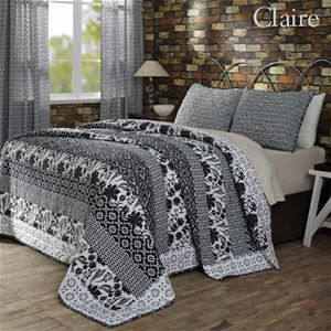 Delectably Yours Claire Black & White Quilt Bedding from Victorian Heart Ashton & Willow