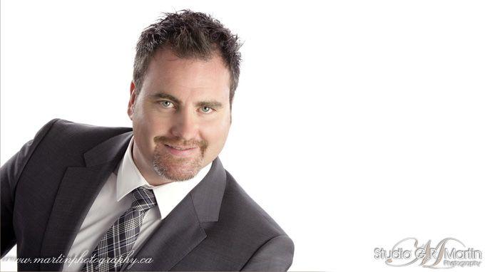 Studio Business photography headshot man - white background