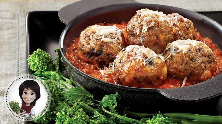 Boulettes de veau aux olives et sauce tomate de Josée di Stasio