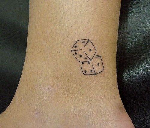 simple dice tattoo