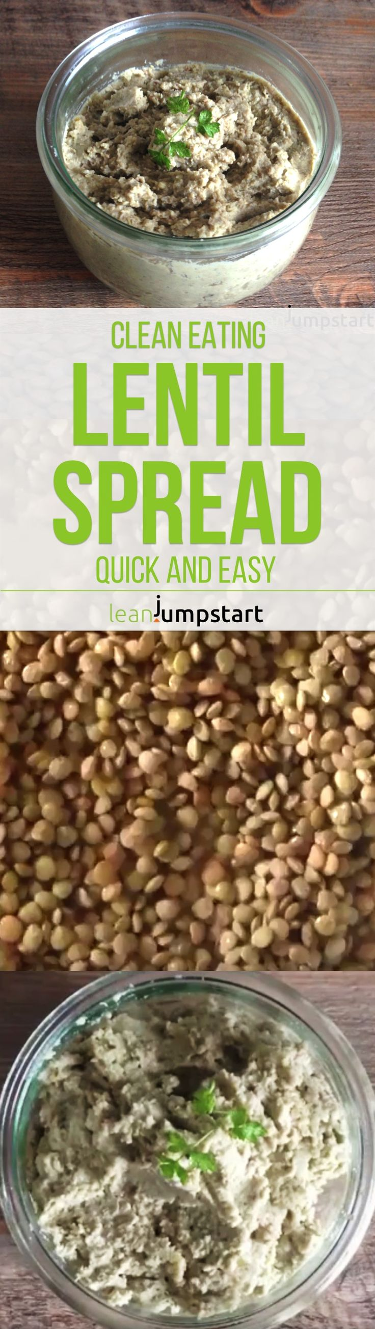 Need a healthy spread recipe? This clean eating lentil spread is vegan, easy to…