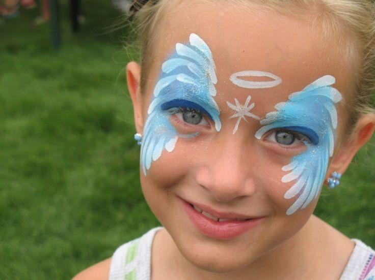 Tolle Fasching Idee aus einem Engel in blauen Nuancen und Weiß
