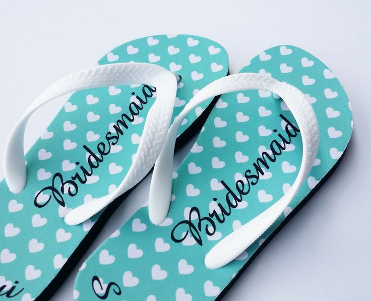 adorable  Custom Flip Flop,Cheap personalized flip flops for bridesmaids,printed flip flops,bridal flip flops,custom wedding flip flop sandals,Wedding by OnlyOneGift on Etsy