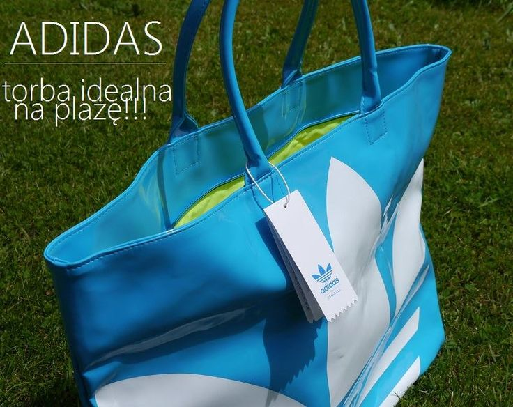 Duża torebka firmy adidas. Doskonała na zakupy lub plażę. Wykonana z materiałów najwyższej jakości gwarantujących trwałość produktu!