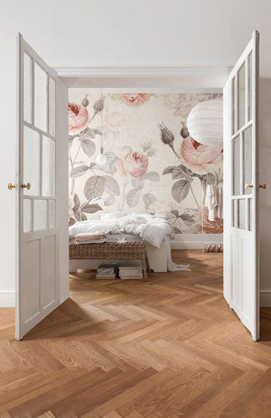 This large scale floral mural is bursting with beautiful peonies and  stylized script. 17 Best ideas about Bedroom Wallpaper on Pinterest   Wallpaper