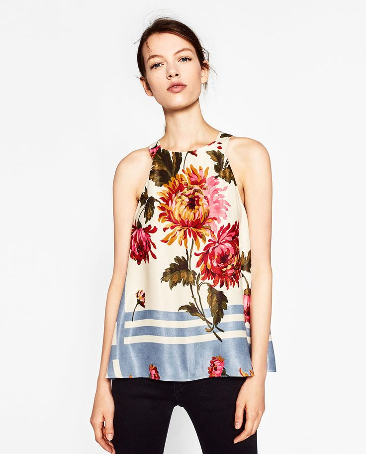 PRINTED ASYMMETRIC TOP-View all-TOPS-WOMAN | ZARA United States