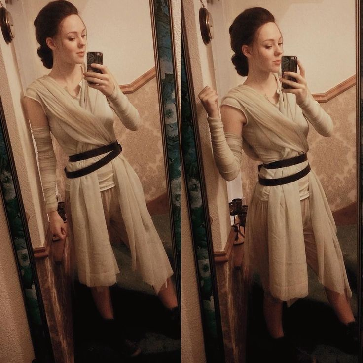 Hell yes I finished (still needs tiny amounts of work) Rey!  #starwars #rey #theforceawakens by catlincosplay