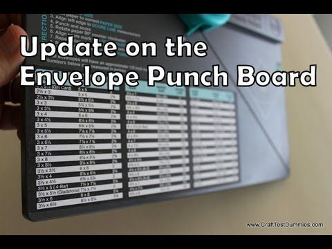 Update on the Envelope Punch Board by WRMK