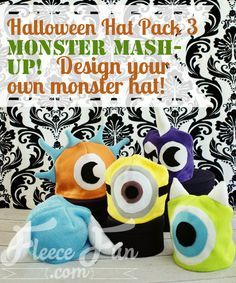 New Free Sewing Pattern: Halloween Hat Pack - Monster Mash up ♥ Fleece Fun