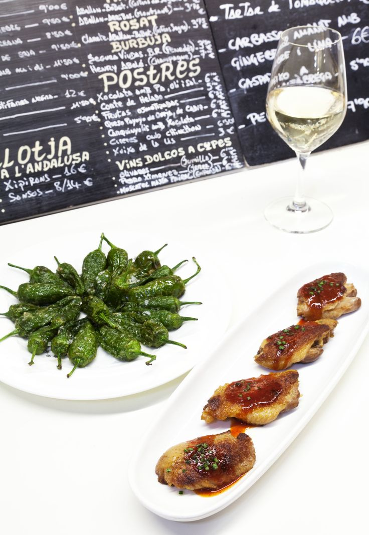 Small plates at Tapas, 24, Carles Abellan's popular venue. Barcelona, Spain