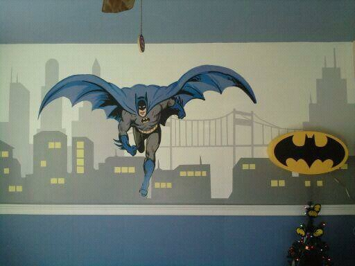 17 best images about super heroes bedroom art on pinterest for Batman wall mural decal